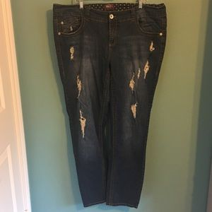 Torrid Distressed Jeans 22 Plus size Blue